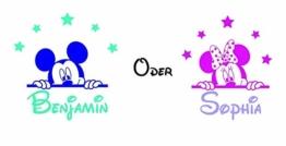 Wandtattoo Kinderzimmer Maus Wunschtext Sterne