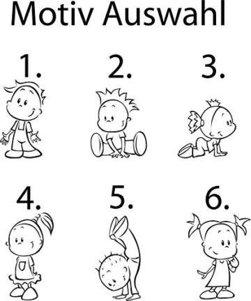 Autoaufkleber Baby Kinder freie Motivwahl (Motiv 3 links)