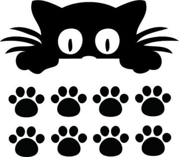 Autoaufkleber Katze Pfoten