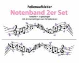 """Wandtattoo Autoaufkleber """"Notenband mit Schmetterlingen 02"""""""