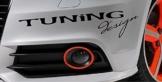 """Autoaufkleber Schriftzug """"Tuning Design"""""""