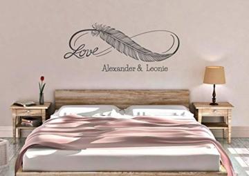 Wandtattoo Schlafzimmer Love Liebe Infinity