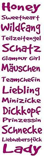 """Wandtattoo Kinderzimmer Mädchen """"Spruchband für coole Mädchen"""""""