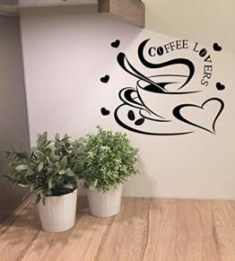 "Wandtattoo Küche Kaffee ""Coffee Lovers"""