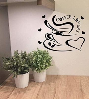 wandtattoo k che esszimmer kaffee liebe wandtattoos. Black Bedroom Furniture Sets. Home Design Ideas