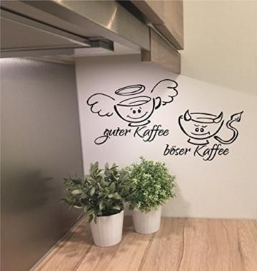 """Wandtattoo Küche """"Guter Kaffee böser Kaffee"""""""