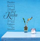 """Wandtattoo Küche """"Küchen Banner"""""""