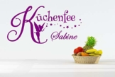 """Wandtattoo Küche """"Küchenfee + Wunschname"""""""