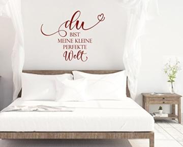 """Wandtattoo Schlafzimmer """"Du bist meine kleine perfekte Welt"""""""