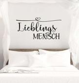 """Wandtattoo Schlafzimmer Sprüche """"Lieblingsmensch"""""""