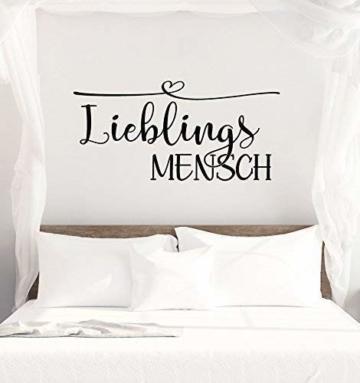 """Wandtattoo Schlafzimmer """"LIEBLINGSMENSCH"""""""