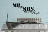 "Wandtattoo Schlafzimmer ""Mister & Miss right"""