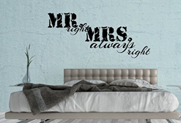 "Wandtattoo Schlafzimmer ""MR. right & MRS. always right"""