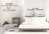 """Wandtattoo Schlafzimmer Tiere """"Hier schlafen ..."""" Hund oder Katze"""