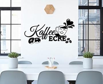 """Wandtattoo Spruch für die Küche Büro """"Kaffee Ecke"""""""