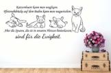 Wandtattoo Tiere Sprüche Katzenhaare