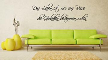 Wandtattoo Wohnzimmer Spruch Das Leben Ist Wie Eine Reise