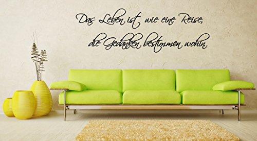 """Wandtattoo Wohnzimmer Spruch """"Das Leben ist wie eine Reise…"""""""
