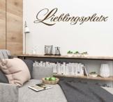 """Wandtattoo Wohnzimmer Spruch """"Lieblingsplatz - 02"""""""