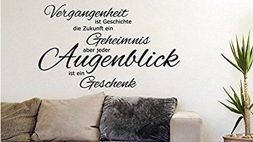 """Wandtattoo Wohnzimmer Sprüche/Zitate """"Augenblicke & Momente"""" (140cm)"""