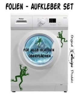 Wandtattoo Bad WC Aufkleber Waschmaschine Frosch